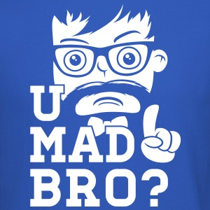 Like a swag cool u mad story bro moustache style Long Sleeve Shirts - Crewneck Sweatshirt