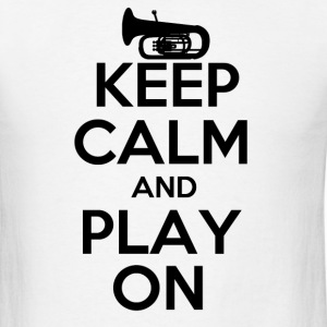 Keep Calm Tuba - Men's T-Shirt