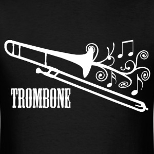 Trombone with Swirls - Men's T-Shirt
