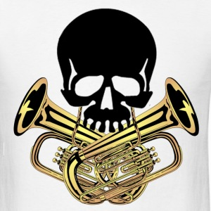 Skull with Tuba Crossbones - Men's T-Shirt