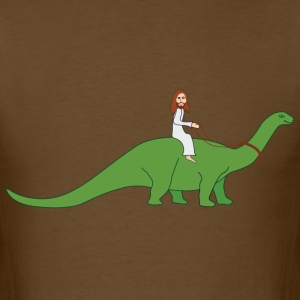 Jesus on a Brontosaurus T-Shirts - Men's T-Shirt