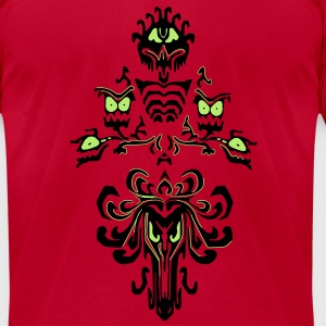 Haunted House Walls T-Shirts - Men's T-Shirt by American Apparel
