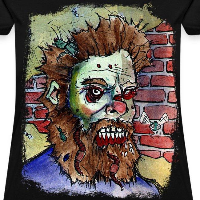 womens living dead beard zombie