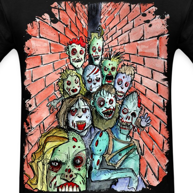 mens back alley zombie horde