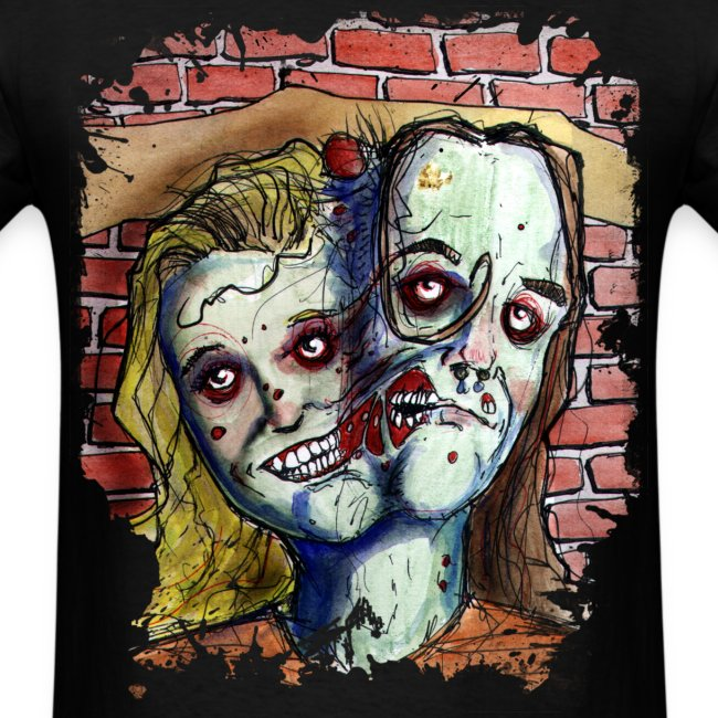 mens two headed zombie