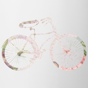 Girly Floral Bicycle Bottles & Mugs - Coffee/Tea Mug