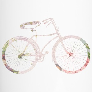Girly Floral Bicycle Bottles & Mugs - Travel Mug