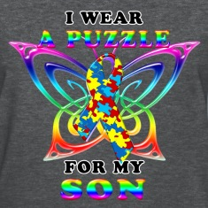 I Wear A Puzzle for my Son Women's T-Shirts