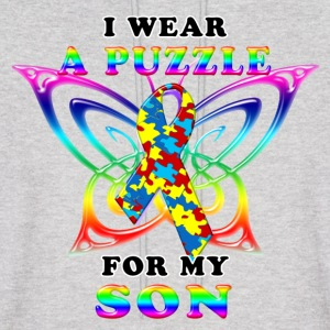 I Wear A Puzzle for my Son Hoodies - Men's Hoodie
