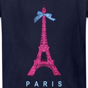 Hot Pink Paris Eiffel Tower Kids' Shirts - Kids' T-Shirt