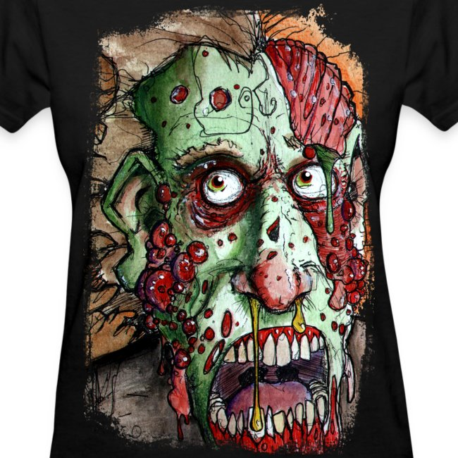 womens snot boil zombie