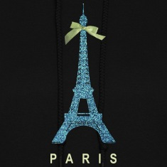 Blue Paris Eiffel Tower with bow Hoodies