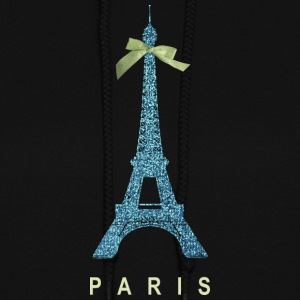 Blue Paris Eiffel Tower with bow Hoodies - Women's Hoodie