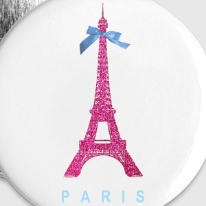 Hot Pink Paris Eiffel Tower Buttons - Large Buttons