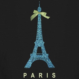 Blue Paris Eiffel Tower with bow Kids' Shirts - Kids' Long Sleeve T-Shirt