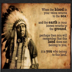 This land does not belong to you, it is you who belong to this land