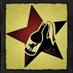 Red & Black Molotov Cocktail