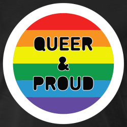 Queer & Proud rainbow flag