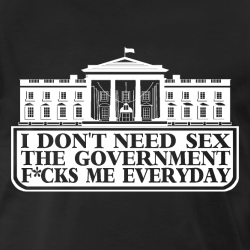 I don\'t need sex the government f*cks me everyday