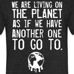 We are living on the planet as if we have another one to go to.