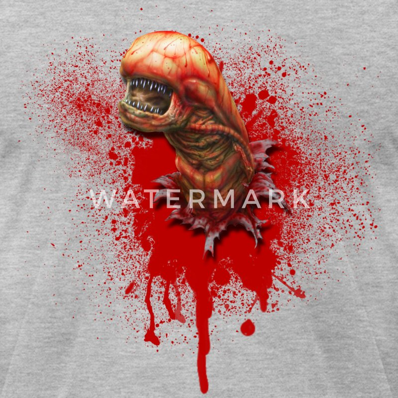 Alien Chestburster - Men's T-Shirt by American Apparel