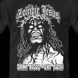 Zombie jesus drink blood eat flesh