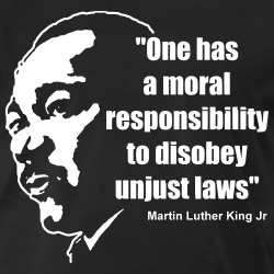 One has a moral responsibility to disobey unjust laws (Martin Luther King Jr)