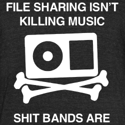 File sharing isn\'t killing music, shit bands are