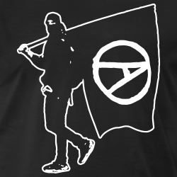 Anarchist with Flag