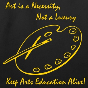 Art is a Necessity...Black Tote/Shopping Bag - Eco-Friendly Cotton Tote