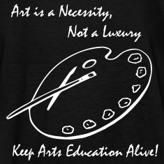 Art is a Necessity...Kids Tee Black w/White