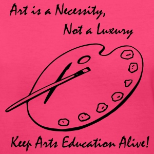Art is a Necessity... Ladies V-Neck Tee Pink - Women's V-Neck T-Shirt