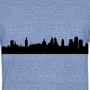 London cityscape silhouette T-Shirts - Unisex Tri-Blend T-Shirt by American Apparel