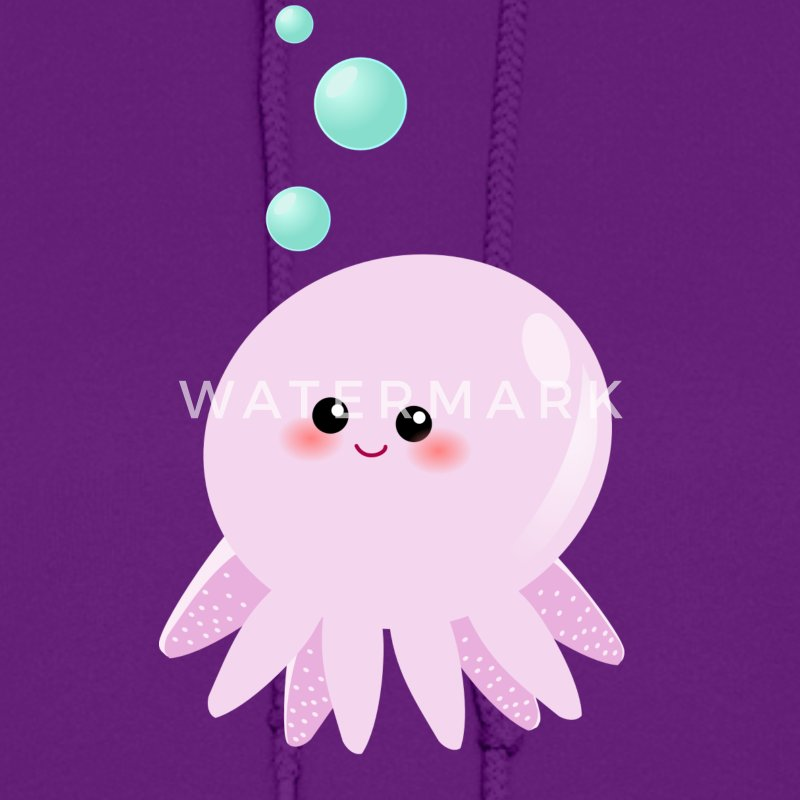 cute pink octopus cartoon - photo #6