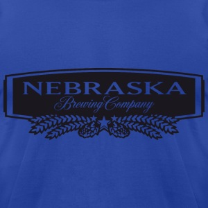 Nebraska Brewing Company B&W Logo  T-Shirts - Men's T-Shirt by American Apparel