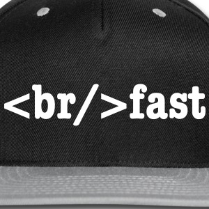 breakfast HTML Code Caps - Snap-back Baseball Cap
