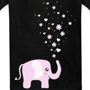 Cute Pink Elephant cartoon Kids' Shirts - Kids' T-Shirt