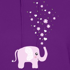 Cute Pink Elephant cartoon Hoodies