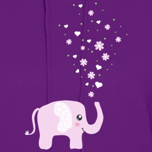 Cute Pink Elephant cartoon Hoodies - Women's Hoodie