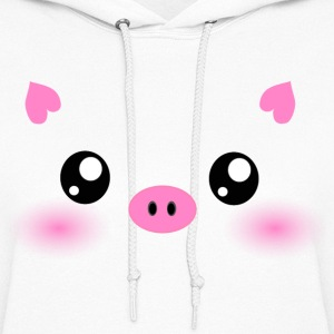 Cute Kawaii Pig face Hoodies - Women's Hoodie