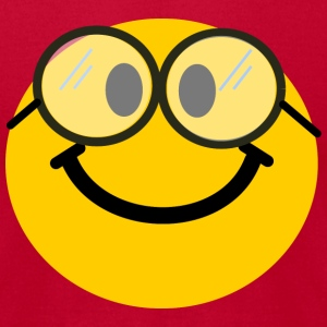 Geek / Nerd Smiley T-Shirts - Men's T-Shirt by American Apparel