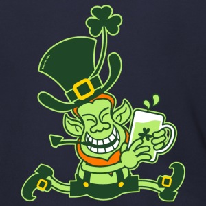 Green Leprechaun Running with Beer Zip Hoodies/Jac - Men's Zip Hoodie