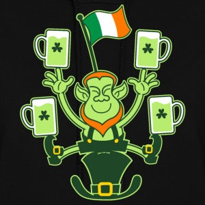 Leprechaun Juggling Beers and Irish Flag Hoodies - Women's Hoodie