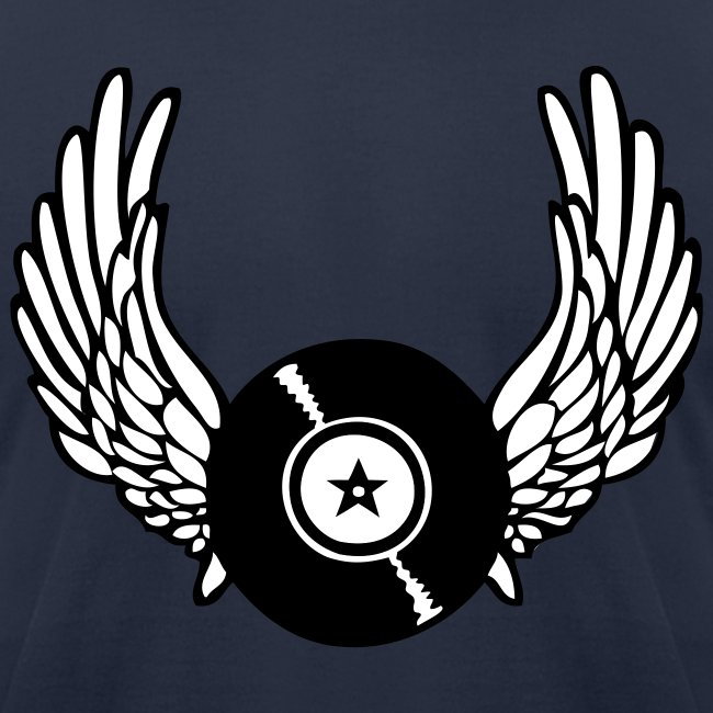 Vinyl Records and Wings T-Shirt   Men's Jersey T-Shirt
