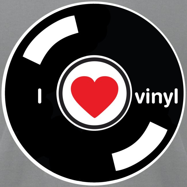 I Love Vinyl Records T-Shirt   Men's Jersey T-Shirt