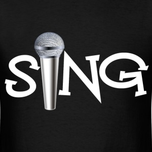 Sing with Microphone - Men's T-Shirt