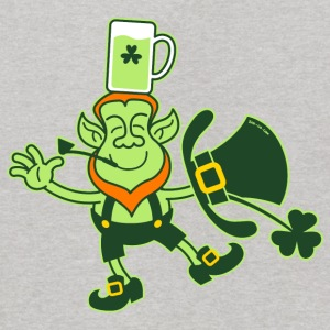Leprechaun Balancing a Glass of Beer on his Head S - Kids' Hoodie