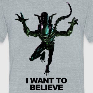I want to believe - Aliens - Unisex Tri-Blend T-Shirt by American Apparel