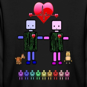 robot love kids long sleeve tshirt - Kids' Long Sleeve T-Shirt