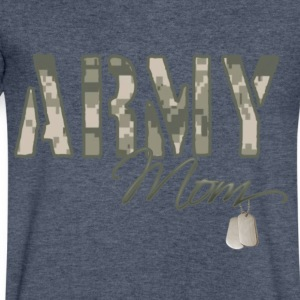 Army Mom - Men's V-Neck T-Shirt by Canvas